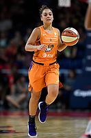Washington, DC - July 30, 2019: Phoenix Mercury guard Leilani Mitchell (5) brings the ball up court during first half action of game between the Phoenix Mercury and Washington Mystics at the Entertainment & Sports Arena in Washington, DC. (Photo by Phil Peters/Media Images International)