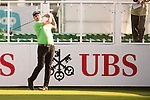 Sam Walker of England tees off the first hole during the 58th UBS Hong Kong Open as part of the European Tour on 08 December 2016, at the Hong Kong Golf Club, Fanling, Hong Kong, China. Photo by Marcio Rodrigo Machado / Power Sport Images