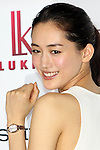 """March 2, 2016, Tokyo, Japan - Japanese actress Haruka Ayase displays Japanese watch giant Seiko Watch's female wrist watch collection """"Lukia"""" in Tokyo on Wednesday, March 2, 2016. Japanese actress Haruka Ayase, a campaign model of the Lukia watches, announced she and Seiko will collaboate to make special design model in this year.  (Photo by Yoshio Tsunoda/AFLO) LWX -ytd-"""