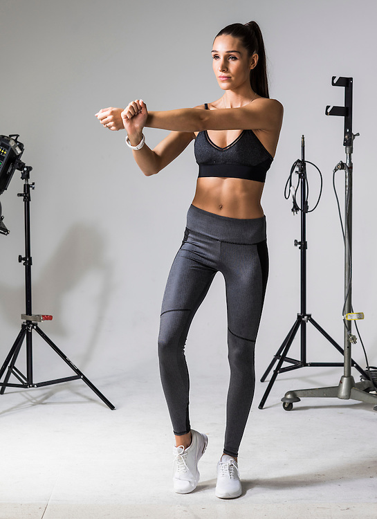 Sunday Mail Fashion, Activware with Kayla Itsines. Photo: Nick Clayton