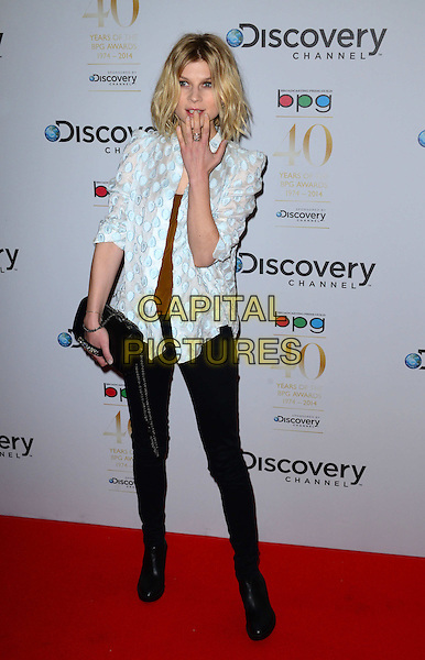 LONDON, ENGLAND - MARCH 28: Clemence Poesy attends the Broadcasting Press Guild Awards sponsored by The Discovery Channel at Theatre Royal on March 28, 2014 in London, England.<br /> CAP/JOR<br /> &copy;Nils Jorgensen/Capital Pictures