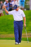 28 August 2009: Ernie Els of South Africa during the second round of The Barclays PGA Playoffs at Liberty National Golf Course in Jersey City, New Jersey.