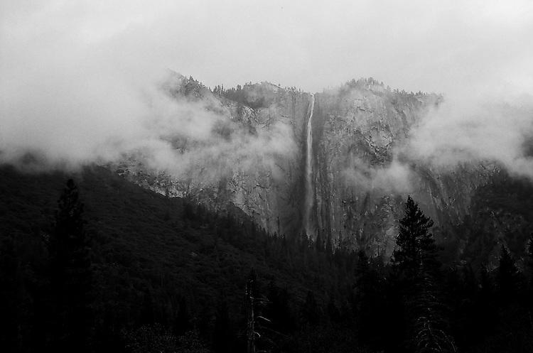 Ribbon Falls, Yosemite  35mm on film