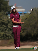 Johan Carlsson (SWE)  plays up the 3rd during the Final Round of the 2016 Omega Dubai Desert Classic, played on the Emirates Golf Club, Dubai, United Arab Emirates.  07/02/2016. Picture: Golffile | David Lloyd<br /> <br /> All photos usage must carry mandatory copyright credit (&copy; Golffile | David Lloyd)