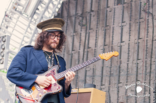 Sean Lennon, The Ghost of a Saber Tooth Tiger (The GOASTT). Photo by Akron and Cleveland Music Photographer, Portrait Photographer and Event Photographer Mara Robinson, Mara Robinson Photography. At Nelsonville Music Festival.