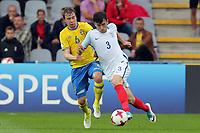 Simon Tibbling of Sweden and Ben Chilwell of England  during Sweden Under-21 vs England Under-21, UEFA European Under-21 Championship Football at The Kolporter Arena on 16th June 2017
