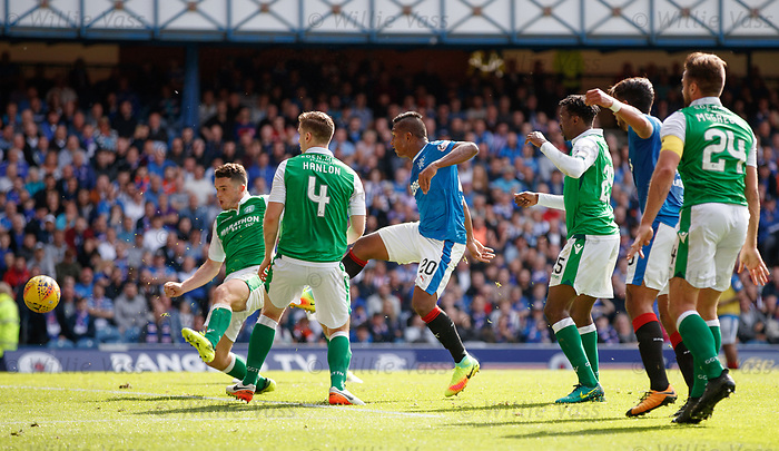 Alfredo Morelos almost gets a second