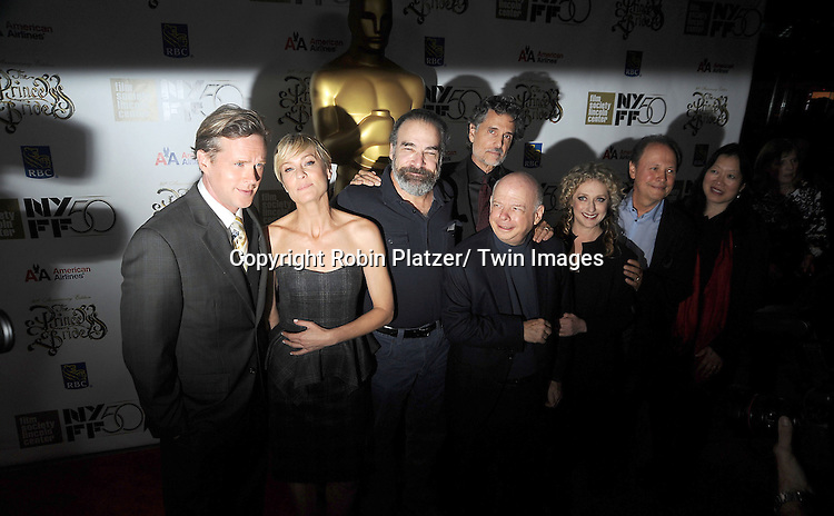 """Cary Elwes, Robin Wright, Mandy Patinkin, Chris Sarandon, Wallace Shawn, Carol Kane and Billy Crystal arrives at """"The Princess Bride""""  screening presented by the Film Society of Lincoln Center and the Academy of Motion Pictures Arts and Sciences at the 2012 New York Film Festival on October 2, 2012 at Alice Tully Hall in  New York City. Rob Reiner was the director and the cast included Billy Crystal, Cary Elwes, Caril Kane, Mandy Patinkin, Chris Sarandon and Rboin Wright."""