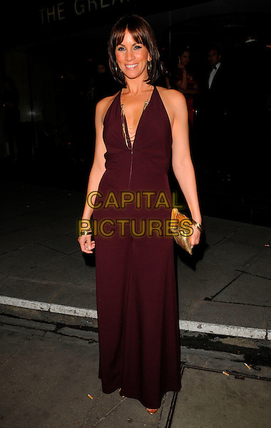 ANDREA McLEAN.Royal Television Society Programme Awards, RTS Awards, Grosvenor House Hotel, London, England, .19th March 2008..full length aubergine purple dress maxi long .CAP/CAN.©Can Nguyen/Capital Pictures