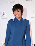 Akie Abe attends Tae Ashida Fashion Show 2017 S/S Amazon Fashion Week Tokyo at Tokyo Japan on 17 Oct 2016. (Photo by Motoo Naka/AFLO)