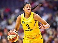 Washington, DC - June 15, 2018: Los Angeles Sparks forward Candace Parker (3) in action during game between the Washington Mystics and Los Angeles Sparks at the Capital One Arena in Washington, DC. (Photo by Phil Peters/Media Images International)