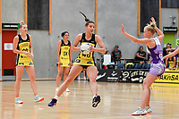 Pulse&rsquo; Karin Burger in action during the Netball Pre Season Tournament - Pulse v Stars at Ngā Purapura, Otaki, New Zealand on Saturday 9 February  2019. <br />