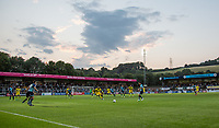 General view of play during the Friendly match between Wycombe Wanderers and AFC Wimbledon at Adams Park, High Wycombe, England on 25 July 2017. Photo by Andy Rowland.