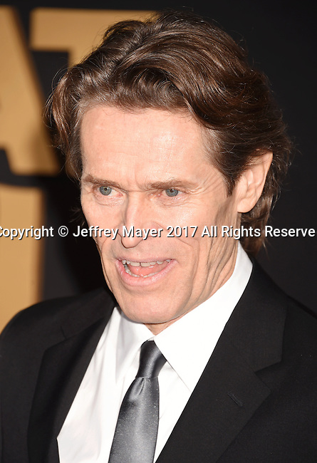 HOLLYWOOD, CA - FEBRUARY 15: Actor Willem Dafoe arrives at the premiere of Universal Pictures' 'The Great Wall' at TCL Chinese Theatre IMAX on February 15, 2017 in Hollywood, California.