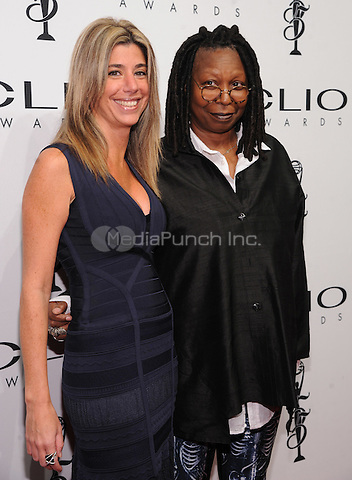 New York, NY- October 1: Nicole Purcell, Executive Vice President CLIO Awards, and Whoopi Goldberg attend the 2014 CLIO Awards on October 1, 2014 at Cipriani Wall Street in New York City.  Credit: John Palmer/MediaPunch