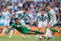 Action photo during the match Argentina vs Bolivia, Corresponding to Group -D- America Cup Centenary 2016 at CenturyLink Field.<br /> <br /> Foto de accion durante el partido Argentina vs Bolivia, Correspondiente al Grupo -D- de la Copa America Centenario 2016 en el  CenturyLink Field, en la foto: (i-d), Jhasmany Campos de Bolivia, Ever Banega y Erik Lamela de Argentina<br /> <br /> <br /> 14/06/2016/MEXSPORT/Omar Martinez.