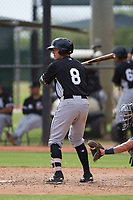 Chicago White Sox outfielder Alex Call (8) at bat during an Instructional League game against the San Diego Padres on September 26, 2017 at Camelback Ranch in Glendale, Arizona. (Zachary Lucy/Four Seam Images)