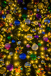 Christmas tree lights and baubles on display in Sydney, NSW, Australia