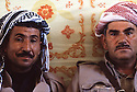 Iran 1979.Portrait of two peshmerga in Ziweh; right, Aref Yassin