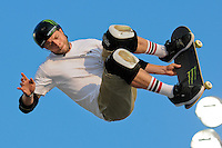 17 August, 2012:  Pierre-luc Gagnon competes in the Skateboard Vert semi-final at the Pantech Beach Championships in Ocean City, MD.