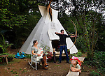 Jessie, Terence and Ben.<br /> <br /> 'WE GAVE BIRTH IN A TEPEE'.<br /> <br /> Commissioned by the GUARDIAN WEEKEND MAGAZINE. (See Tearsheets Gallery).