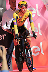 Primoz Roglic (SLO) Team Jumbo-Visma on the start ramp of Stage 1 of the 2019 Giro d'Italia, an individual time trial running 8km from Bologna to the Sanctuary of San Luca, Bologna, Italy. 11th May 2019.<br /> Picture: Eoin Clarke | Cyclefile<br /> <br /> All photos usage must carry mandatory copyright credit (© Cyclefile | Eoin Clarke)