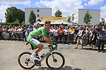 Green Jersey holder Marcel Kittel (GER) Quick-Step Floors arrives at sign on in Mondorf-les-Bains before the start of Stage 4 of the 104th edition of the Tour de France 2017, running 207.5km from Mondorf-les-Bains, Luxembourg to Vittel, France. 4th July 2017.<br /> Picture: Eoin Clarke | Cyclefile<br /> <br /> <br /> All photos usage must carry mandatory copyright credit (&copy; Cyclefile | Eoin Clarke)