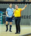 Almere - Zaalhockey  SCHC-Laren  . scheidsrechter Steven Bakker .     TopsportCentrum Almere.    COPYRIGHT KOEN SUYK