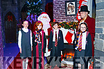 Helping Santa launch the Festive Hall at the Kerry Museum on Friday last are l to r, Kyla Shine, Reese Maher, Santa, Richard Doyle, Martin Brosnan and Fiona O'Connor.