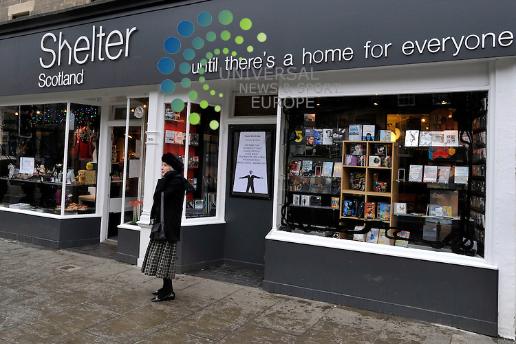 Shelter Scotland has said that pay day loans with high interest rates could lead to people facing eviction and homelessness. Shelter Charity store in Stockbridge which is currently running its post New Year Designer Charity sale, Edinburgh, Scotland, 4th January, 2012..Picture:Scott Taylor Universal News And Sport (Europe) .All pictures must be credited to www.universalnewsandsport.com. (Office)0844 884 51 22.