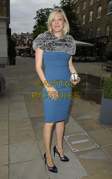 Nadja Swarovski<br /> The Arts for Life pre-auction dinner, Saatchi Gallery, King's Rd., London, England.<br /> June 24th, 2013<br /> full length blue dress grey gray fur wrap<br /> CAP/CAN<br /> &copy;Can Nguyen/Capital Pictures