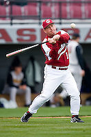 South Carolina Gamecocks head coach Ray Tanner (1) hits balls for fielding practice at Sarge Frye Field in Columbia, SC, Sunday, February 24, 2008.