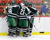 The Big Green celebrate Evan Stephens' (Dartmouth - 24) goal. - The Harvard University Crimson defeated the Dartmouth College Big Green 4-1 (EN) on Monday, January 18, 2010, at Bright Hockey Center in Cambridge, Massachusetts.
