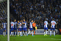 27th October 2019; Dragao Stadium, Porto, Portugal; Portuguese Championship 2019/2020, FC Porto versus Famalicao; Luis Díaz of FC Porto celebrates his goal in the 45th minute, 1-0