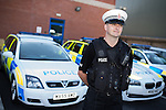 © Joel Goodman - 07973 332324 . 16 August 2013 . Manchester , UK . INSPECTOR MATT BAILEY-SMITH (36) (correct) poses for portrait . Drive along with Inspector Matt Bailey-Smith ( 16366 ) of Greater Manchester Police 's Serious Collision Unit . Photo credit : Joel Goodman