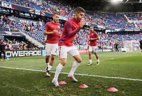 Harrison, N.J. - Friday September 01, 2017: Fabian Johnson, Christian Pulisic during a 2017 FIFA World Cup Qualifying (WCQ) round match between the men's national teams of the United States (USA) and Costa Rica (CRC) at Red Bull Arena.
