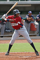 Yordy Cabrera of Lakeland Senior High School in Lakeland, Florida playing for the Legion team at the Tournament of Stars event run by USA Baseball at the USA Baseball National Training Complex in Cary, NC on June 23, 2009. Cabrera was drafted in the 2th round (60th overall) by the Oakland Athletics in the 2010 MLB draft. Photo by Robert Gurganus/Four Seam Images