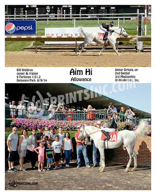 Aim Hi winning at Delaware Park on 8/9/14
