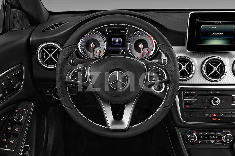 Car pictures of steering wheel view of a 2016 Mercedes Benz CLA Class CLA250 4 Door Sedan Steering Wheel