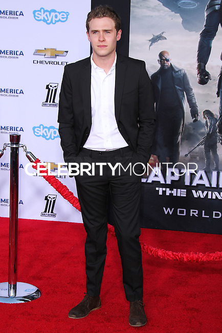 """HOLLYWOOD, LOS ANGELES, CA, USA - MARCH 13: Iain de Caestecker at the World Premiere Of Marvel's """"Captain America: The Winter Soldier"""" held at the El Capitan Theatre on March 13, 2014 in Hollywood, Los Angeles, California, United States. (Photo by Xavier Collin/Celebrity Monitor)"""
