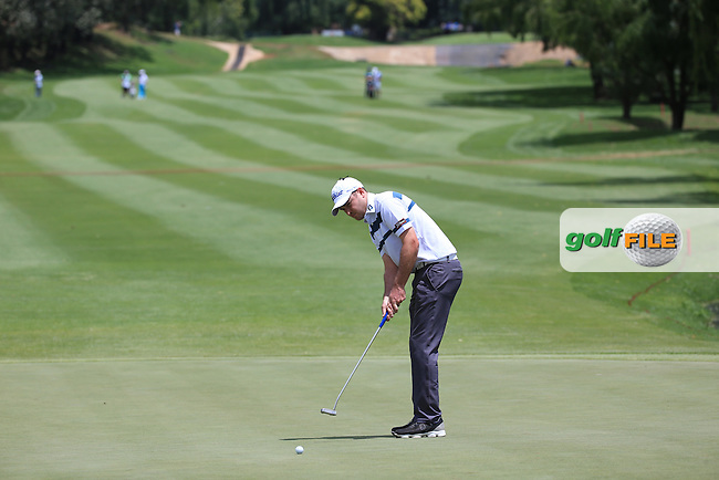 Daniel Brooks (ENG) putting at the 2nd during Round Three of the 2016 BMW SA Open hosted by City of Ekurhuleni, played at the Glendower Golf Club, Gauteng, Johannesburg, South Africa.  09/01/2016. Picture: Golffile | David Lloyd<br /> <br /> All photos usage must carry mandatory copyright credit (&copy; Golffile | David Lloyd)