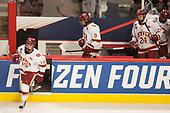 Troy Terry (DU - 19), Tyson McLellan (DU - 9), Colin Staub (DU - 24),  - The University of Denver Pioneers defeated the University of Minnesota Duluth Bulldogs 3-2 to win the national championship on Saturday, April 8, 2017, at the United Center in Chicago, Illinois.