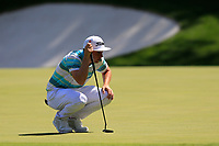 Cameron Smith (AUS) on the 13th green during the 1st round at the The Masters , Augusta National, Augusta, Georgia, USA. 11/04/2019.<br /> Picture Fran Caffrey / Golffile.ie<br /> <br /> All photo usage must carry mandatory copyright credit (&copy; Golffile | Fran Caffrey)