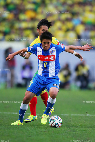 Ryohei Hayashi (Montedio),<br /> December 7, 2014 - Football /Soccer : <br /> 2014 J.LEAGUE Road to J1 Play-offs Final <br /> match between JEF United Ichihara Chiba - Montedio Yamagata<br /> at Ajinomoto Stadium, Chiba, Japan. <br /> (Photo by AFLO SPORT) [1195]