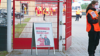 17th May 2020,Stadion An der Alten Försterei, Berlin, Germany; Bundesliga football, FC Union Berlin versus Bayern Munich;  Sings with instructions to wear masks in the stadium grounds