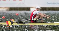 Lucerne, SWITZERLAND<br /> <br /> BEL M1X, Hannes OBRENO. 2016 European Olympic Qualifying Regatta, Lake Rotsee.<br /> <br /> Tuesday  24/05/2016<br /> <br /> [Mandatory Credit; Peter SPURRIER/Intersport-images]