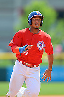 Buffalo Bisons outfielder Moises Sierra #14 during a game against the Charlotte Knights on May 19, 2013 at Coca-Cola Field in Buffalo, New York.  Buffalo defeated Charlotte 11-6.  (Mike Janes/Four Seam Images)