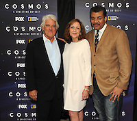 BEVERLY HILLS, CA - AUGUST 3: (L-R) Mitchell Cannold, Ann Druyan, and Neil DeGrasse Tyson arrive at the Fox And National Geographic Channel Presents A Screening Of 'Cosmos: A Spacetime Odyssey' at The Paley Center for Media on August 3, 2014 in Beverly Hills, California. PGFM/Starlitepics