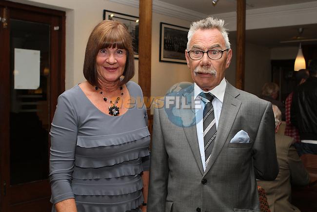 Ann and Tony O'Brien as Augustinian Brother Joe Kirwan celebrates his golden Jubilee in the Glenside...Photo NEWSFILE/Jenny Matthews.