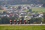Boels Dolmans Cyclingteam in action during the Women's Team Time Trial of the 2018 UCI Road World Championships running 54.7km from Ötztal to Innsbruck, Innsbruck-Tirol, Austria 2018.<br /> Picture: Innsbruck-Tirol 2018/BettiniPhoto | Cyclefile<br /> <br /> <br /> All photos usage must carry mandatory copyright credit (© Cyclefile | BettiniPhoto/Innsbruck-Tirol 2018)